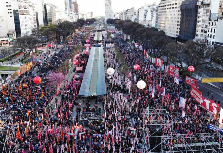 protesta Frente de izquierda
