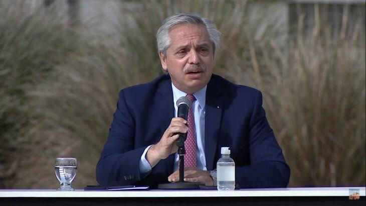 El presidente en el acto, donde se anunció la ampliación de las Becas Manuel Belgrano