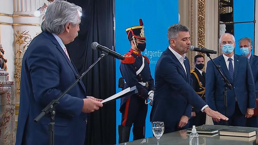 Zabaleta jura como ministro de Desarrollo social