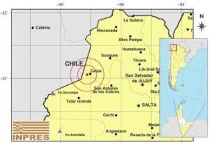 sismo se localizo a 12 kilómetros al oeste de Catúa y a una profundidad de 245 kilómetros.