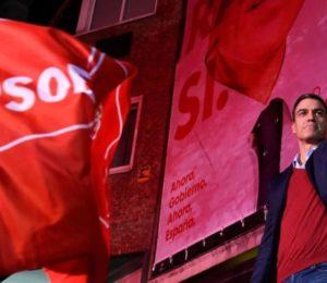 Elecciones en España: Pedro Sánchez del partido socialista gana las elecciones, pero no obtiene mayoría.