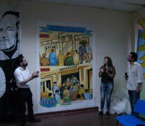 Inauguración de mural conmemorativo de la gratuidad universitaria, en la Facultad de Ciencias Sociales de la UBA
