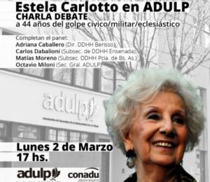 Charla debate con Estela de Carlotto