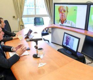 Alberto Fernández en la cumbre del G-20 por teleconferencia desde Olivos
