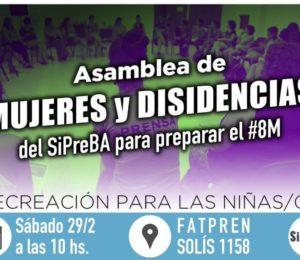 Asamblea de mujeres y disidentes de SIPREBA