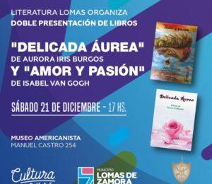 Presentación en la Casa de la Cultura de Lomas de Zamora de los libros de Isabel Van Goth e Iris Burgos gracias a la gestión de Hugo Bento