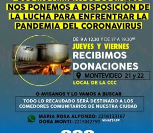 Campaña de donación de alimentos y elementos de higiene