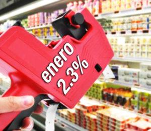 Enero con una inflación del 2,3%