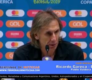 Declaraciones de Ricardo Gareca, DT Peru, Copa América 2019